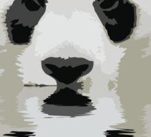 Reflecting panda Sticker