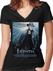 i, synth Women's Fitted V-Neck T-Shirt