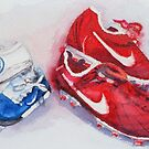 Blue Boots, Red Boots by Vandy Massey