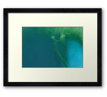 Abstract figure mermaid - the offering Framed Print
