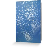 scattered clouds Greeting Card