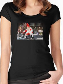 Santa Takes a Break Women's Fitted Scoop T-Shirt