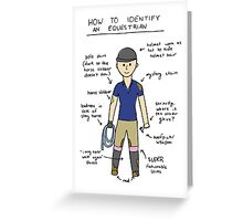 How To Identify an Equestrian Greeting Card