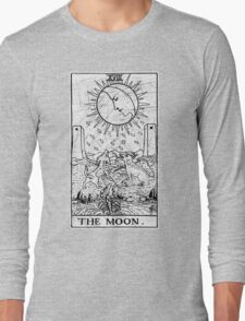 The Moon Tarot Card - Major Arcana - fortune telling - occult Long Sleeve T-Shirt