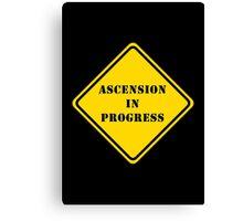 Ascension In Progress on Black Canvas Print
