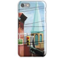 Cityscape steeple,buildings & wires iPhone Case/Skin