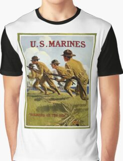 US Marines -- Soldiers Of The Sea Graphic T-Shirt