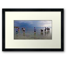 Photographers' at Work Framed Print