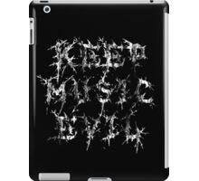 KEEP MUSIC EVIL - DISTRESSED WHITE iPad Case/Skin