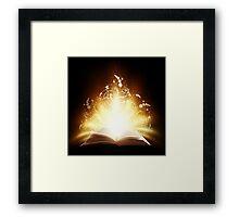 Magic book Framed Print