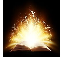 Magic book Photographic Print