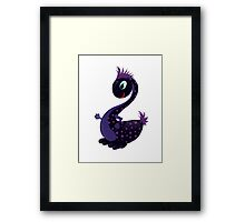 A Cute black Baby Dragon as symbol 2012 Framed Print