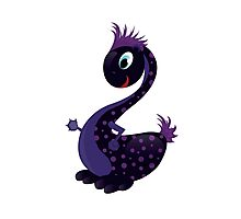 A Cute black Baby Dragon as symbol 2012 Photographic Print