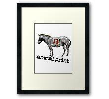 Animal Print (white logo) Framed Print