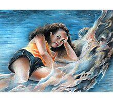 Young Tahitian Mermaid Photographic Print
