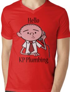 KP Plumbing - Text Mens V-Neck T-Shirt