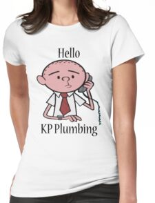 KP Plumbing - Text Womens Fitted T-Shirt