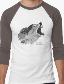Direwolf Winter Is Coming Men's Baseball ¾ T-Shirt