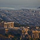 Acropolis And The Aegean by phil decocco