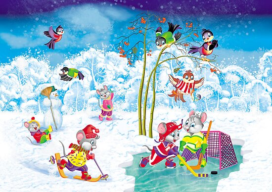 hockey by SVETLANA ZOLOTAREVA