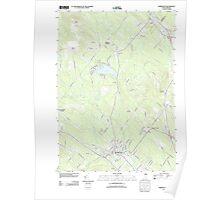 USGS TOPO Map New Hampshire NH Farmington 20120608 TM Poster