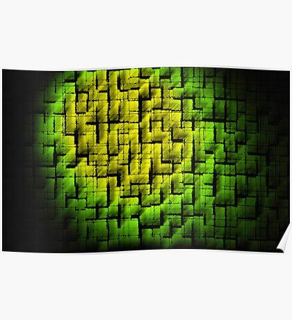 Green Blocks Poster