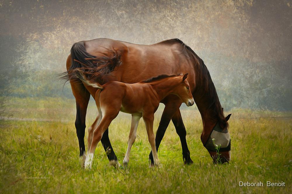 Mom and Baby by Deborah  Benoit