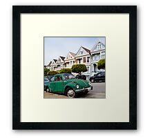 Volkswagen Beetle on Steiner Street Framed Print