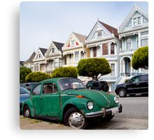 Volkswagen Beetle on Steiner Street Canvas Print