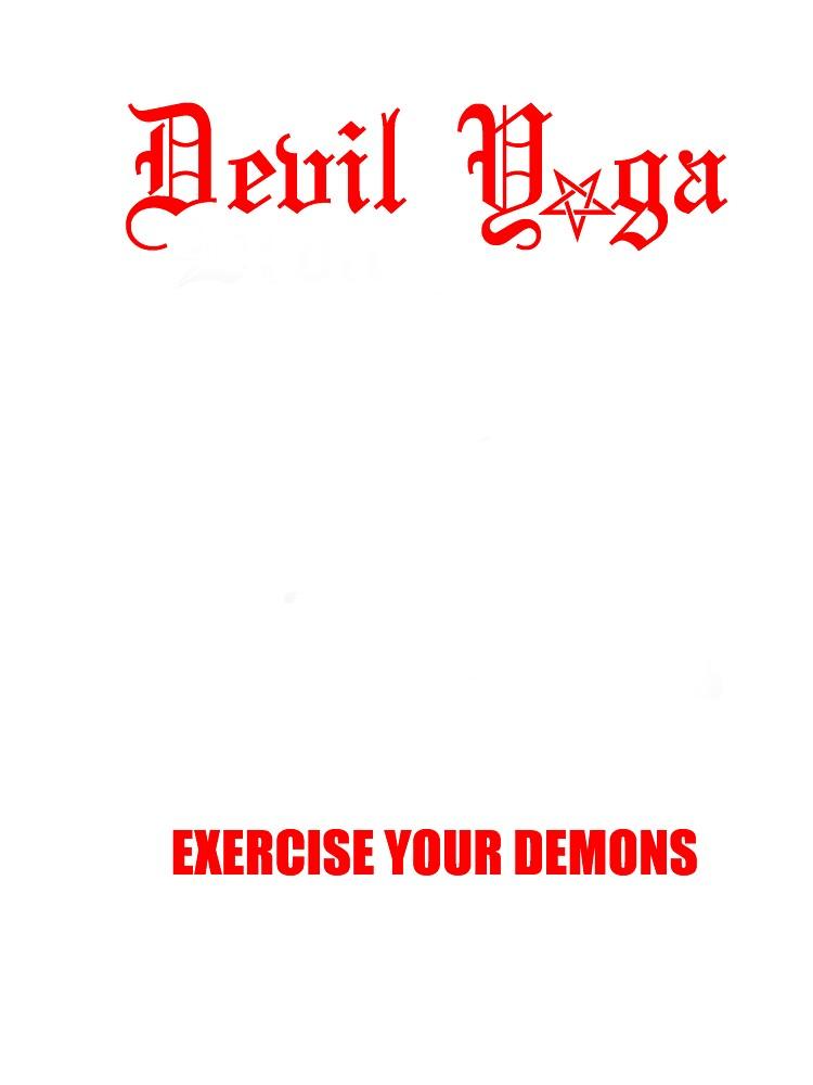 devil yoga for black shirts  by sophicidal