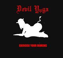 devil yoga for black shirts  Unisex T-Shirt