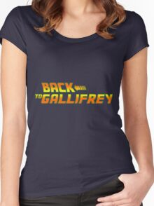 Back to Gallifrey Women's Fitted Scoop T-Shirt