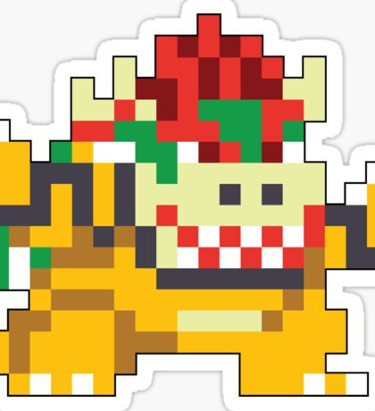 Super Mario Maker - Bowser Costume Sprite Sticker