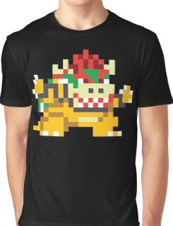 Super Mario Maker - Bowser Costume Sprite Graphic T-Shirt