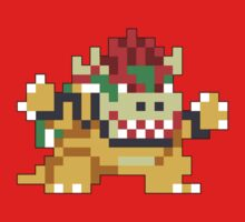 Super Mario Maker - Bowser Costume Sprite Kids Clothes