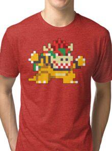 Super Mario Maker - Bowser Costume Sprite Tri-blend T-Shirt