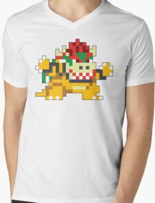 Super Mario Maker - Bowser Costume Sprite Mens V-Neck T-Shirt