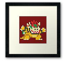 Super Mario Maker - Bowser Costume Sprite Framed Print
