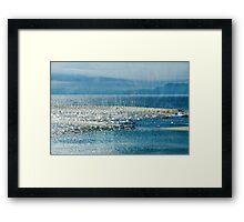 Lyme Regis Under Glass Framed Print