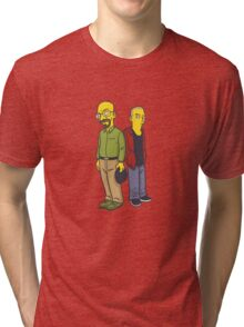 Walter & Jesse as Simpsons Tri-blend T-Shirt