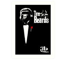 three beards Art Print
