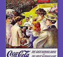 Coca-Cola-Vintage Stadium Scene by Yesteryears