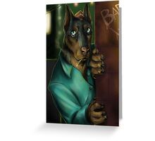 Detective Doberman Greeting Card