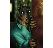 Detective Doberman Photographic Print
