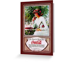 Coca-Cola-Vintage Sporty Woman Greeting Card