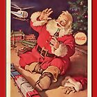 Coca-Cola-Vintage Santa and Trains by Yesteryears