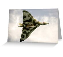 The Vulcan Bomber  Greeting Card