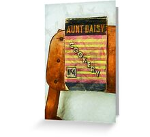 Aunt Daisy's Cookery No 4 Greeting Card