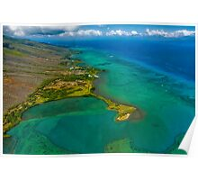 South Shore Fish Pond, Molokai Poster