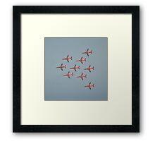Red Flypast Framed Print